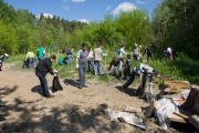 Community work days in a forest park of the Khimki area